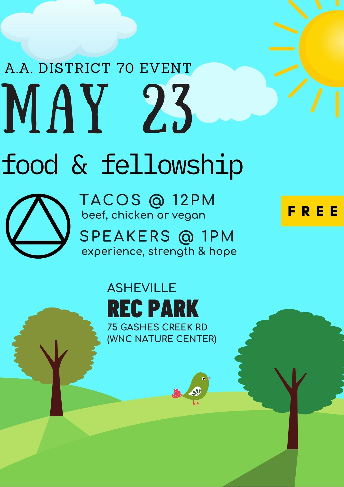 Food and Fellowship @ Asheville Rec Park